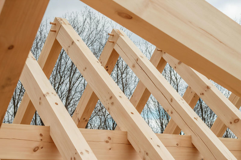 Rafters in Timber Frame Home