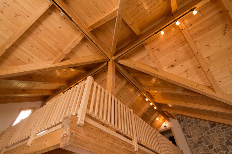 Custom cathedral timber ceiling