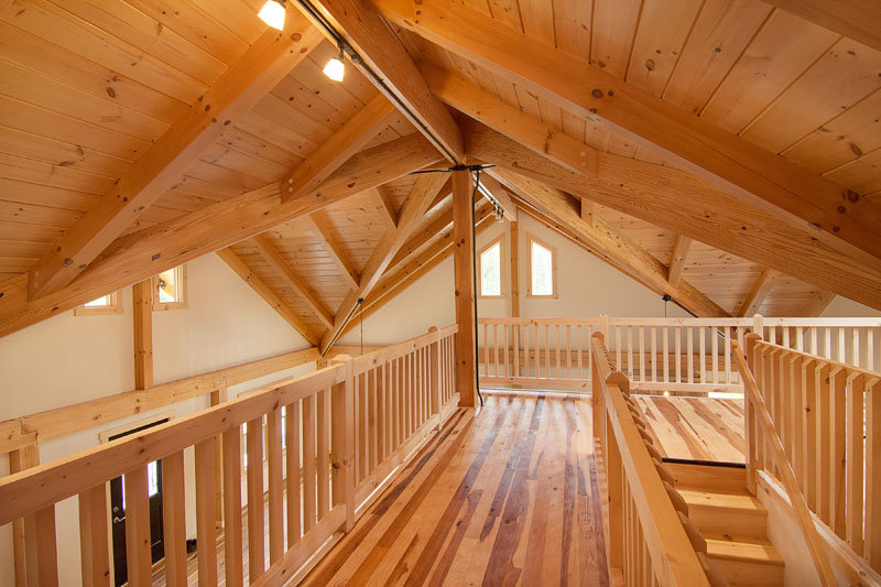 Loft in post and beam home