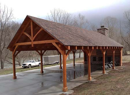 Timber Frame Pavilion King Truss