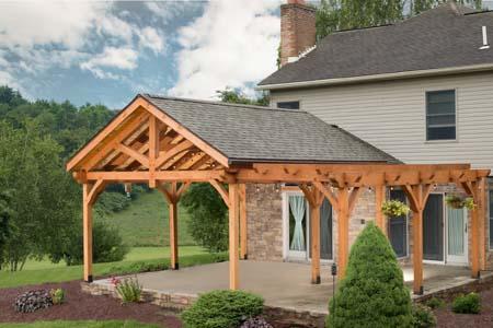 Timber Frame Pavilion and Pergola