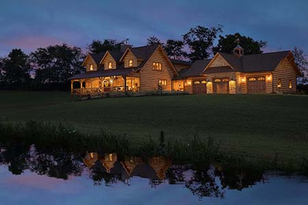Cape Cod Log Home with garage
