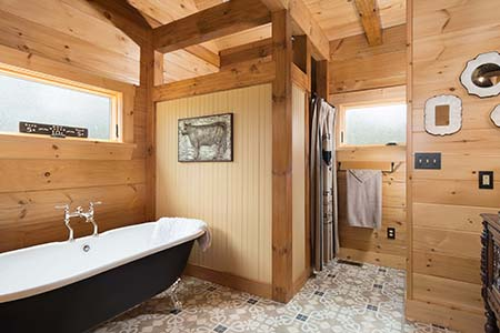 Timber Accents in master bath