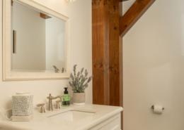Half bath with timber post