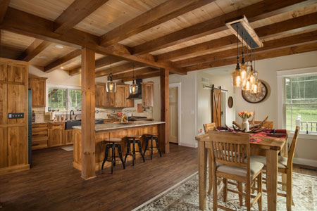 Timber Frame Kitchen and Dining