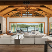 Hybrid Home with Decorative Timber Trusses
