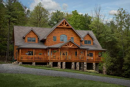 Custom Mountain Log Home