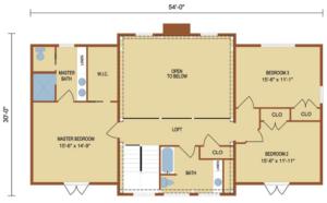 Loganton second level floor plan