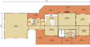 Loganton first level floor plan