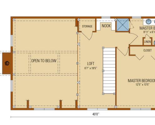 Craftsman Timber Frame Second Floor Plan
