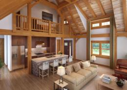 Craftsman Timber Frame Interior