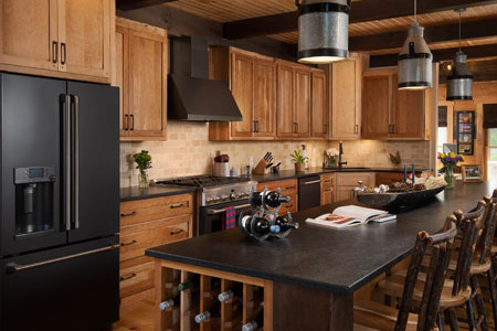 Modern Log Home Kitchen Elegance