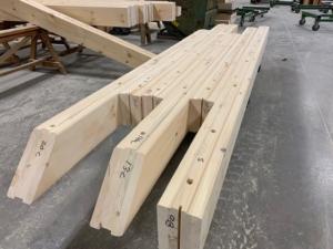 white pine logs, Alaskan bound log home