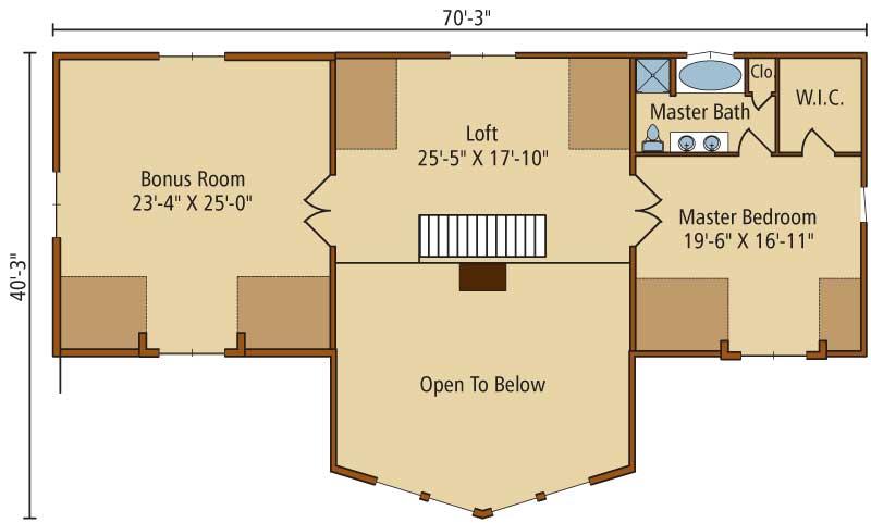 Saybrook,Timberhaven Log Home,3 Bedrooms,2 Bathrooms