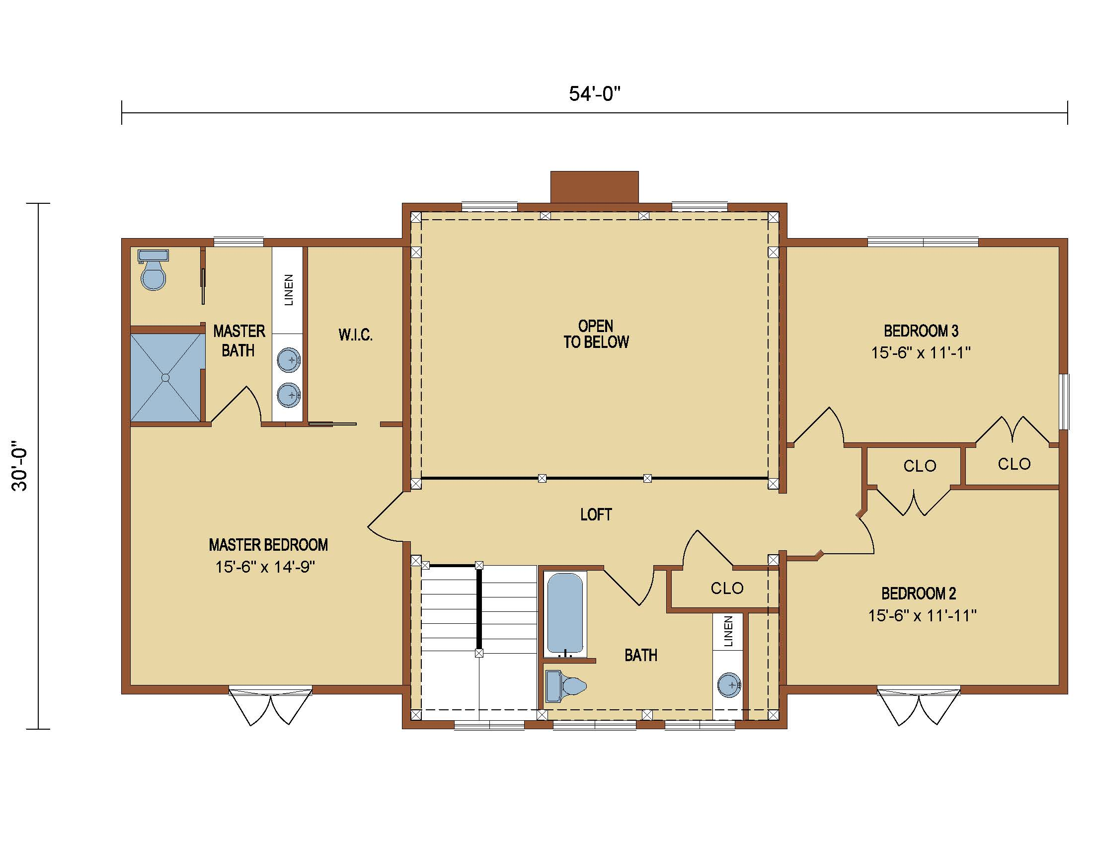 Loganton Timber Frame 2nd Level Floor Plan
