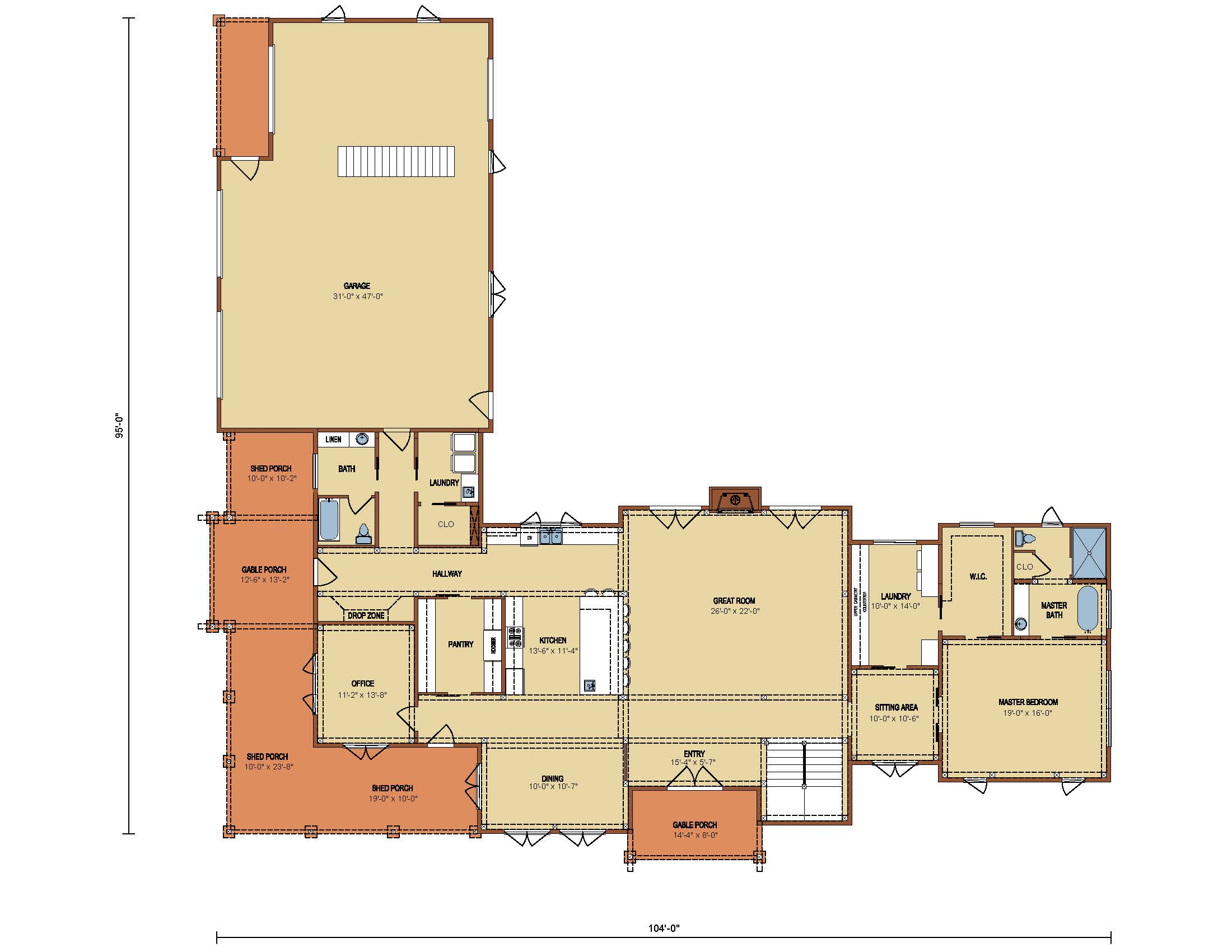 Shade Haven Timber Frame First Level Floor Plan