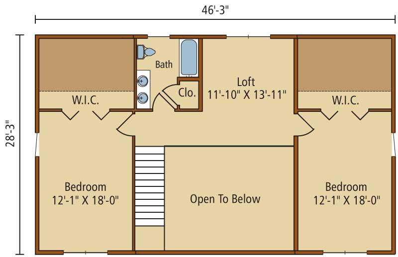 Riverview,Timberhaven Log Home,3 Bedrooms,2 Bathrooms