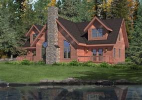 Brookside-II, Timberhaven Log Home, 3 Bedrooms,2 Bathrooms,Log Homes