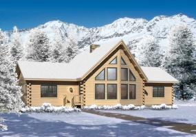 Lakeside II, Timberhaven Log Home, 3 Bedrooms,2 Bathrooms,Log Homes