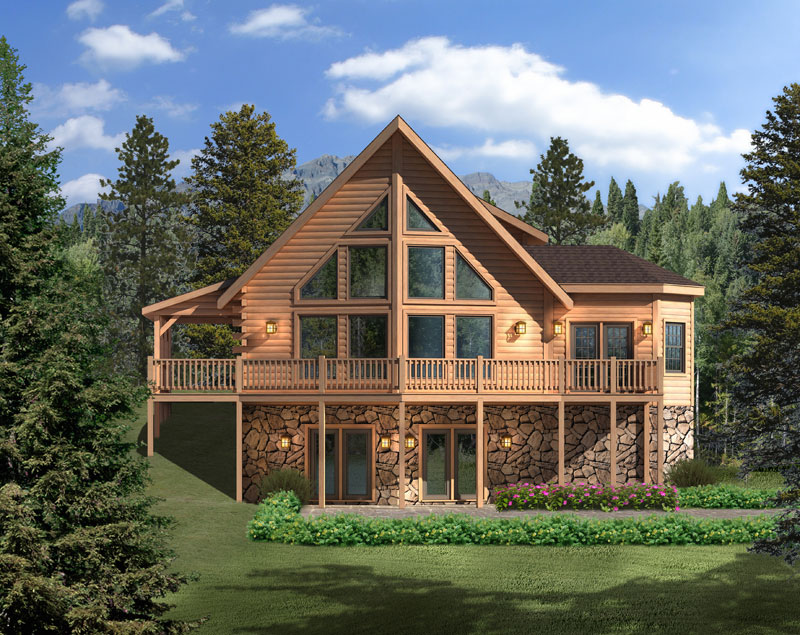 Aspen-Hill-II,Timberhaven Log Home,3 Bedrooms,2 Bathrooms
