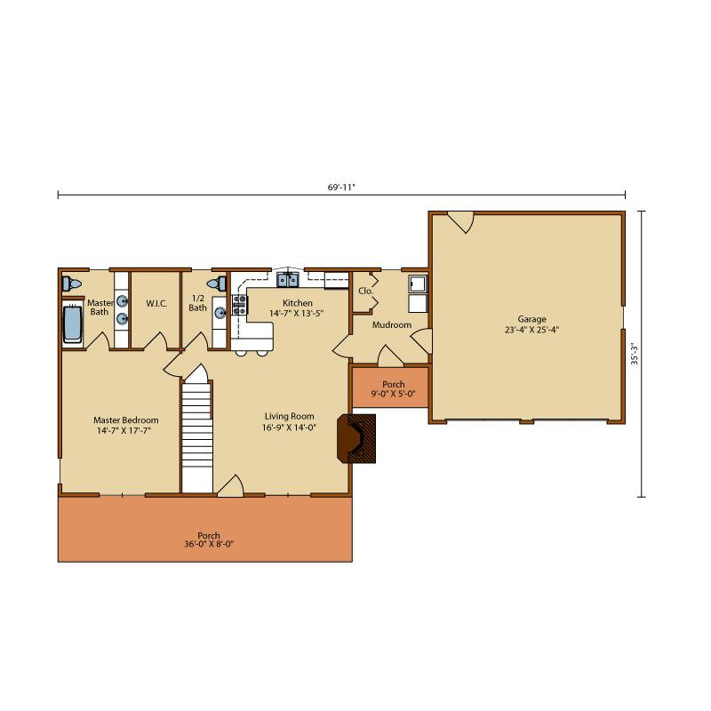 Mountain-View-II,Timberhaven Log Home,3 Bedrooms,2 Bathrooms