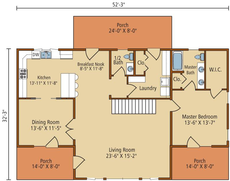 Brookside-I,Timberhaven Log Home,1 Bedroom,1 Bathroom