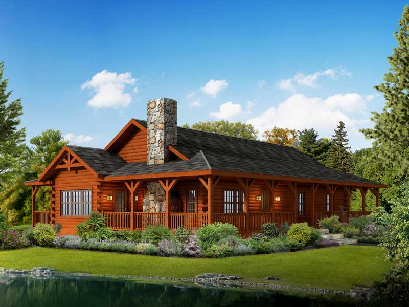 Liberty,Timberhaven Log Home,3 Bedrooms,2 Bathrooms