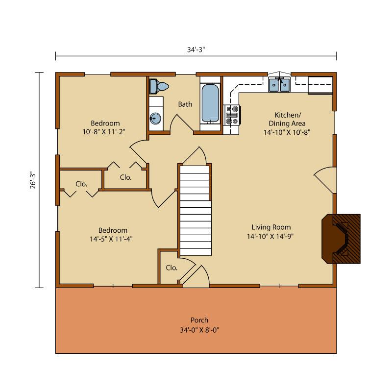Valley-View-II,Timberhaven Log Home,2 Bedrooms,1 Bathroom