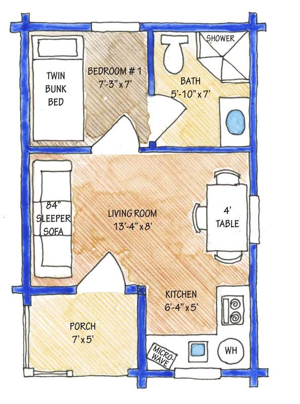 little-pine, Timberhaven Log Home, 1 Bedroom,1 Bathroom,Log Cabins