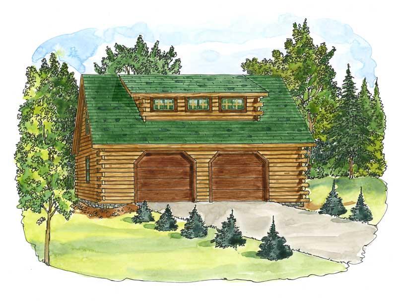carriage-garage,Timberhaven Log Home