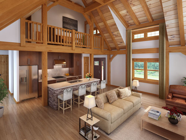 Craftsman Timber Frame Interior