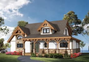 Cottage Timber Frame Modern Cape Cod